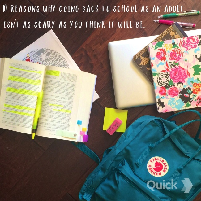 10 reasons why going back to school as an adult isn't as scary as you think it will be... www.tracingabby.com