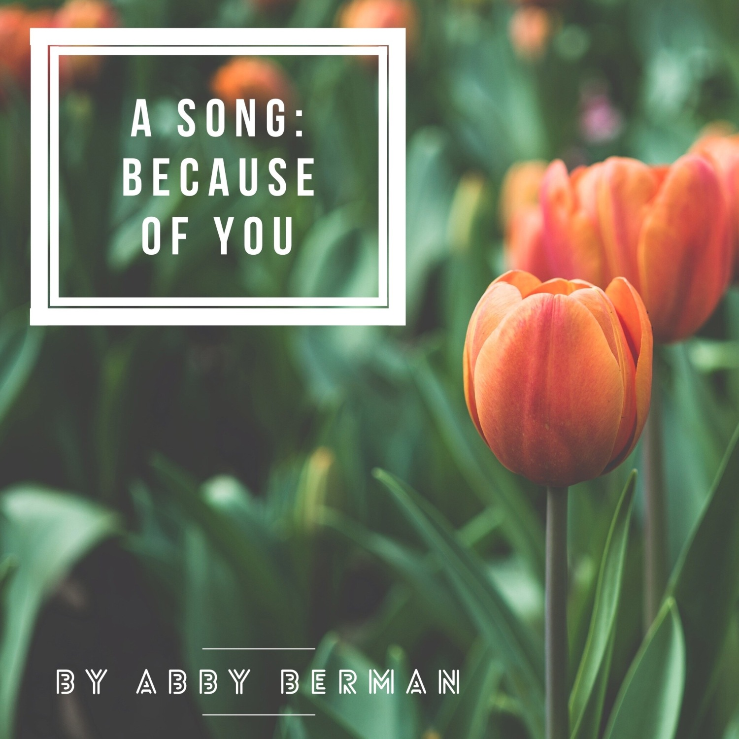 Because of You-A song by Abby Berman, www.tracingabby.com