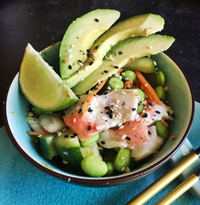 Sushi Salad www.tracingabby.com